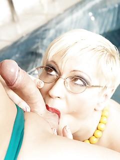 MILF Ball Licking Pics
